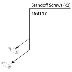 Click here to see Moen 193117 MOEN 193117 STANDOFF SCREW KIT, POSI & 3F