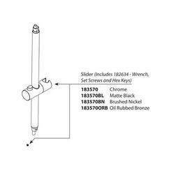 Click here to see Moen 183570BN Moen 183570BN Annex Slide Kit, Brushed Nickel