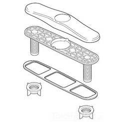 Click here to see Delta RP70707SS Delta RP70707SS Part Escutcheon, Plate, and Nuts Stainless