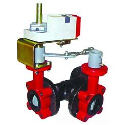 Click here to see Honeywell VFF3TV1YCS Honeywell VFF3TV1YCS 3-Way 18-Inch Resilient Seat Butterfly Valve