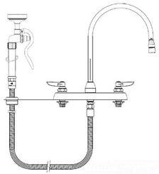 Click here to see T&S Brass B-1172-96-135X T&S Brass B-1172-96-135X Workboard Faucet