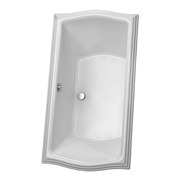 View 2 of Toto ABY785N#01YPN Toto ABY785N#01YPN Clayton Cotton White Acrylic Soaker Tub with Grab Bar and Polished Nickel Trim