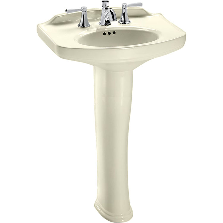 Toto LPT642#03 Dartmouth 25 x 18 Bone Pedestal Lavatory Sink