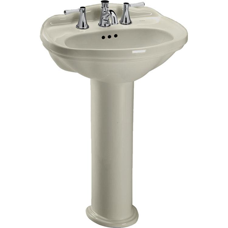 Toto LPT754.4#03 Whitney 25 x 19 Bone Pedestal Lavatory Sink