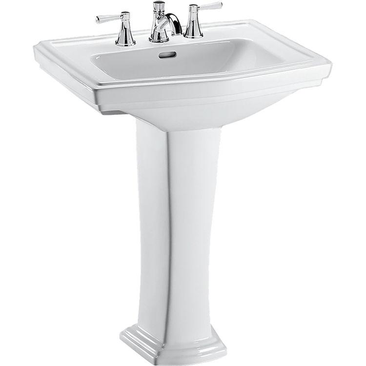 Toto LPT780.8#01 Clayton 27 x 20 Cotton White Pedestal Lavatory Sink