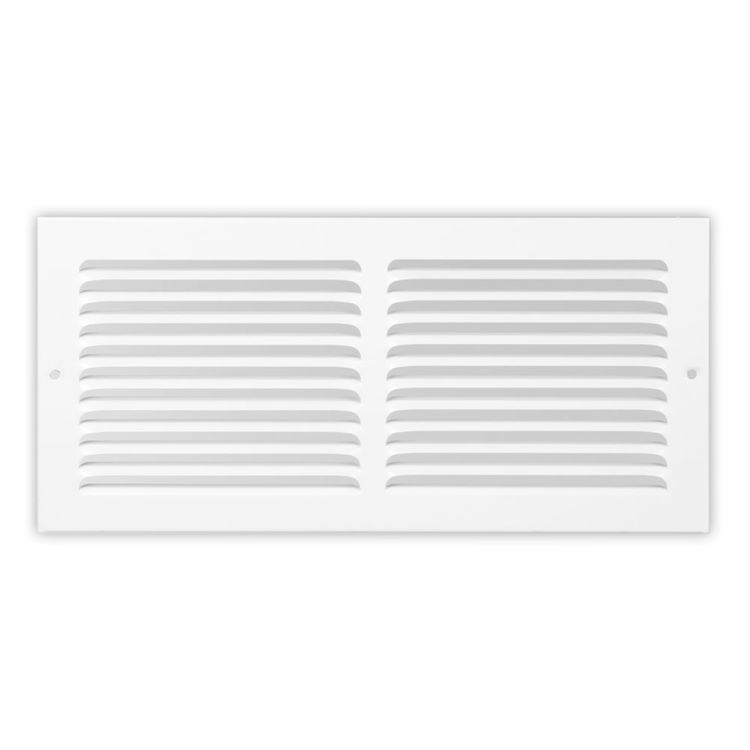 View 2 of Shoemaker 1150-14X8 14x8 Soft White Baseboard Return Air Grille (Steel) - Shoemaker 1150