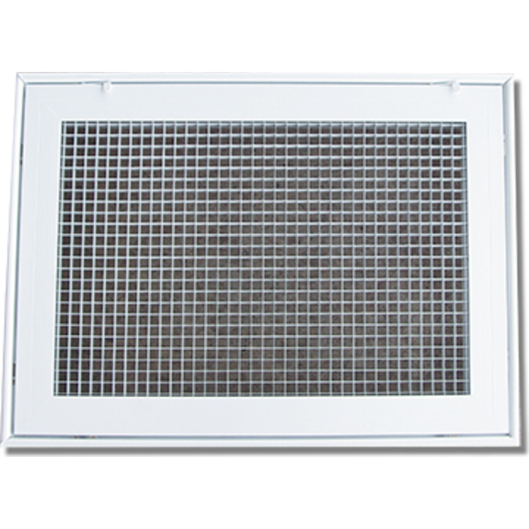 View 2 of Shoemaker 620FG1-25X14 25X14 Soft White Lattice Filter Grille with Steel Frame - Shoemaker 620FG Series