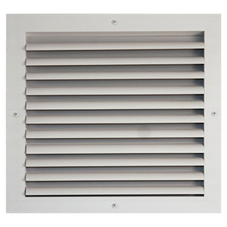 View 2 of Shoemaker CB10-30X8 30X8 Soft White One-Way Adjustable Curved Blade Diffuser (Aluminum) - Shoemaker CB10
