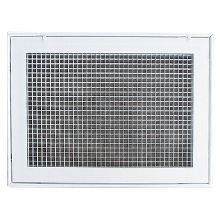 View 2 of Shoemaker 620FG1-16X25 16X25 Soft White Lattice Filter Grille with Steel Frame - Shoemaker 620FG Series