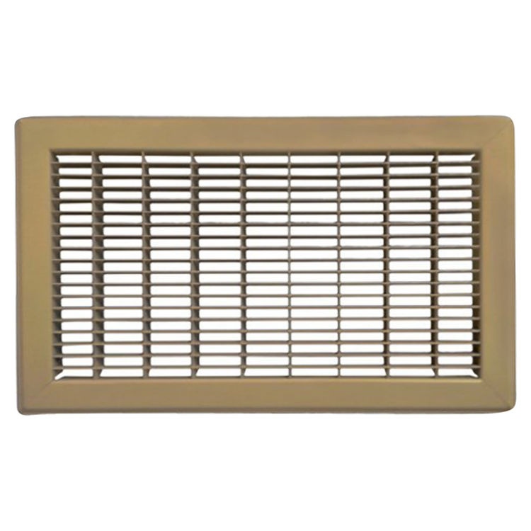 View 2 of Shoemaker 1600-R-12X30 12x30 Driftwood Tan Vent Cover (Steel Honeycomb Construction) - Shoemaker 1600R-12X30
