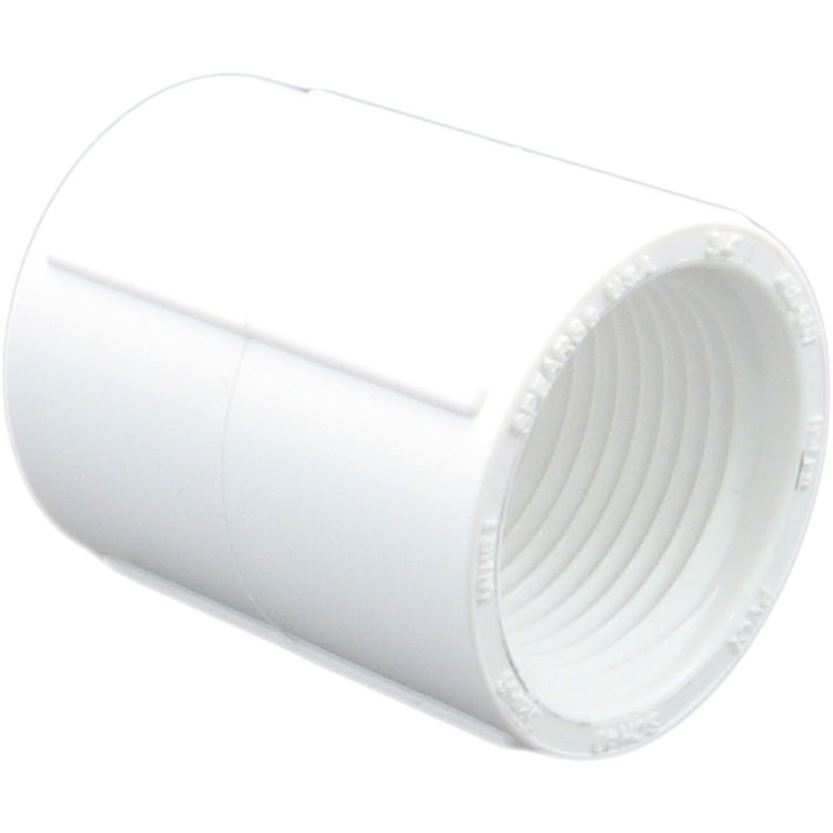 Commodity  PVCCUP1TT Schedule 40 PVC Coupling, 1 Inch