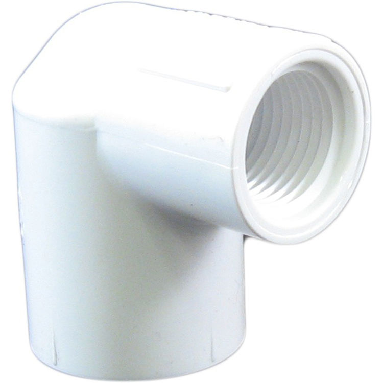 Commodity  Schedule 40 PVC 90 Degree 3/4 x 1/2 Inch Elbow