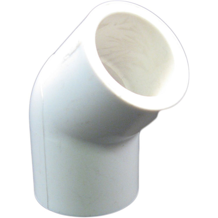 Commodity  PVCL4512 Schedule 40 PVC 45 Degree Elbow, 1/2 Inch