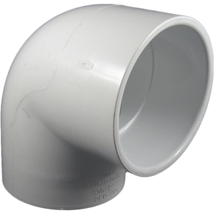 Commodity  PVCL8 Schedule 40 PVC 90 Degree Elbow, 8 Inch