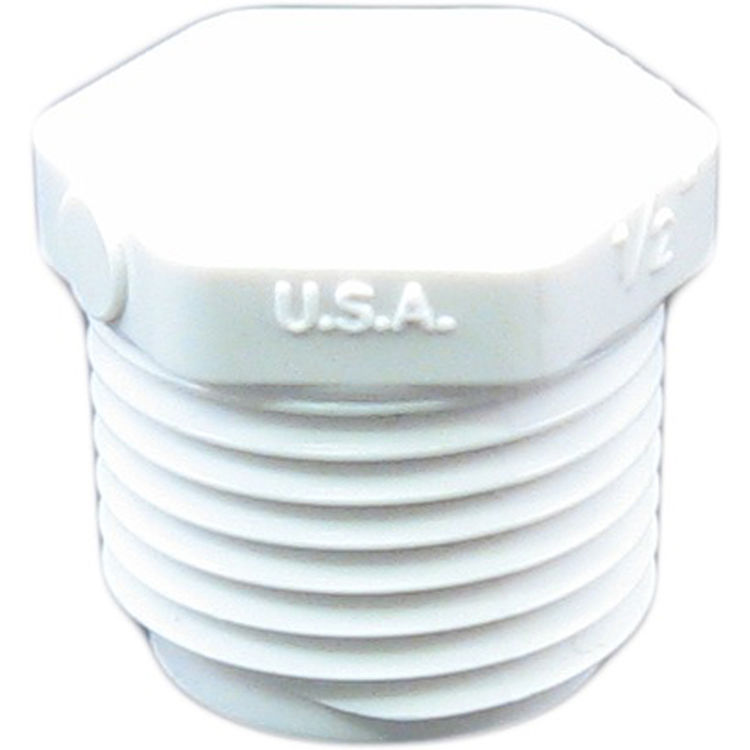 Commodity  Schedule 40 PVC 1/2 Inch Threaded Plug