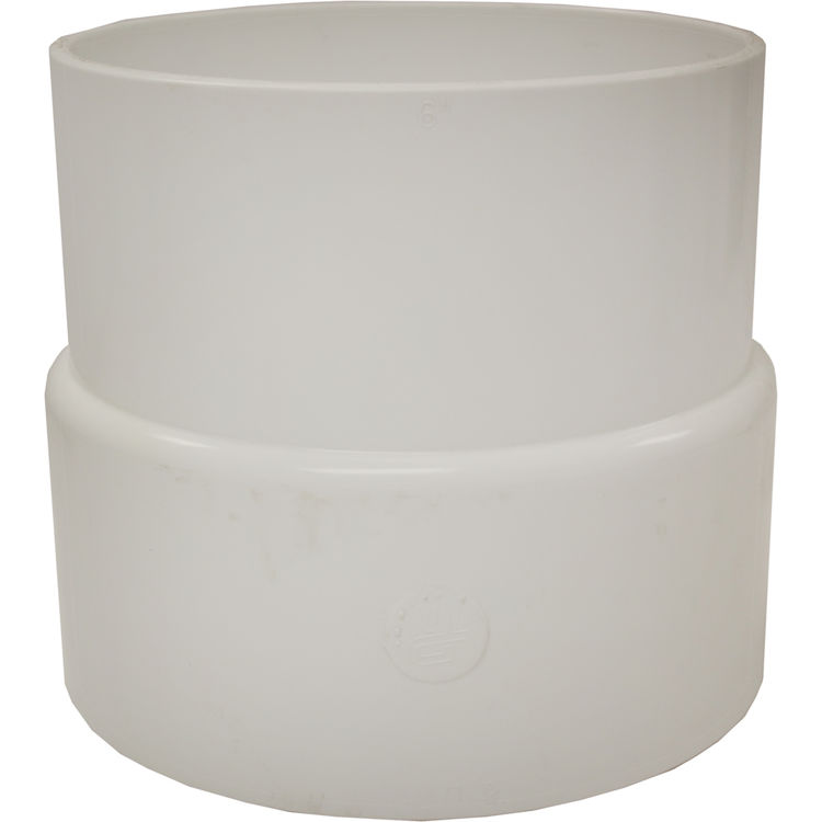 Commodity  6x6 Inch PVC Sewer & Drain Adapter Coupling