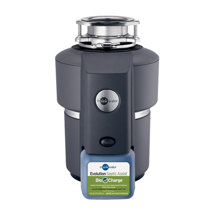 Insinkerator SEPTIC-ASSIST Insinkerator Septic Assist 3/4 HP Evolution Garbage Disposal - Less Cord