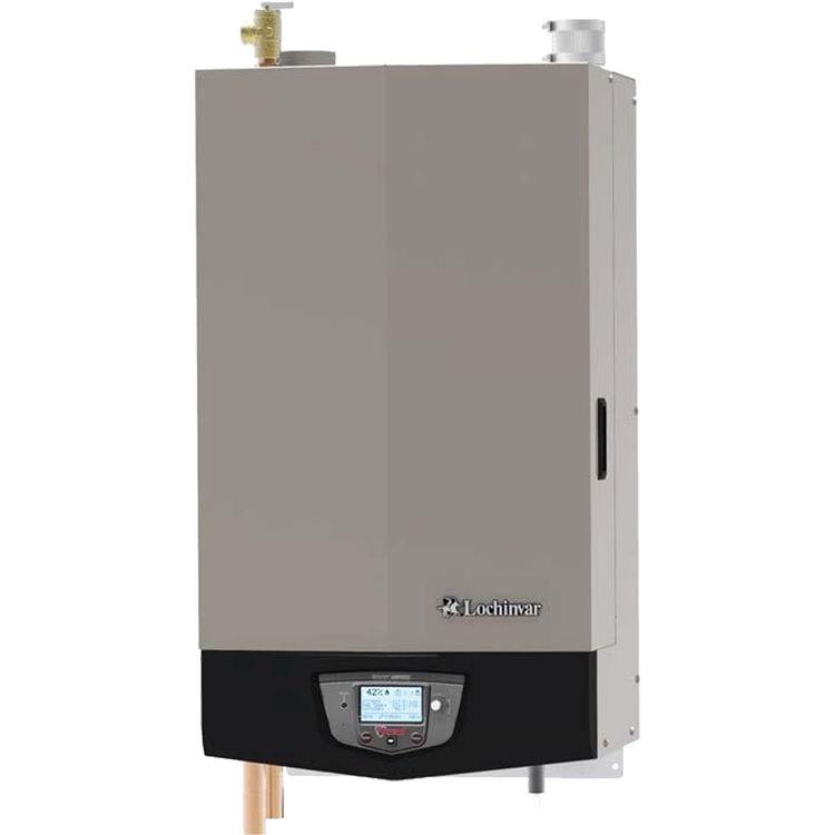 Lochinvar Knight WHL155 155000 Btu High Efficiency Wall Mount Liquid  Propane Boiler