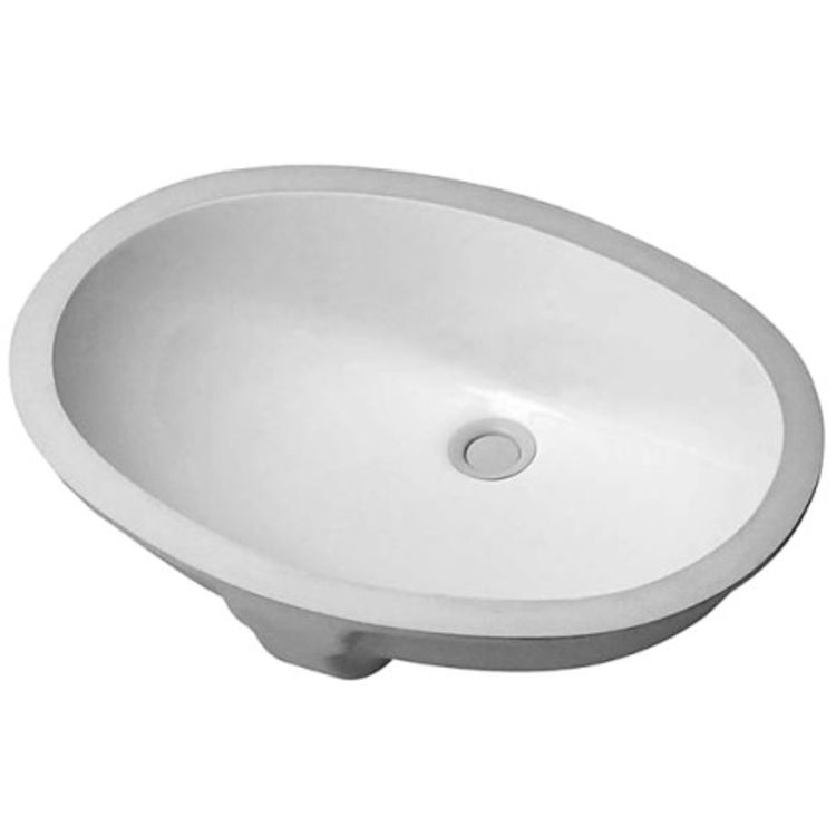 View 2 of Duravit 466510000 Duravit 0466510000 Undermount 21-15/32 Porcelain Bathroom Sink, White