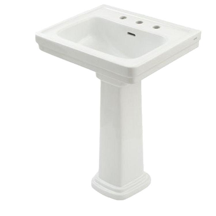 Toto LPT532.8N Cotton White Promenade Pedestal Lavatory 8\