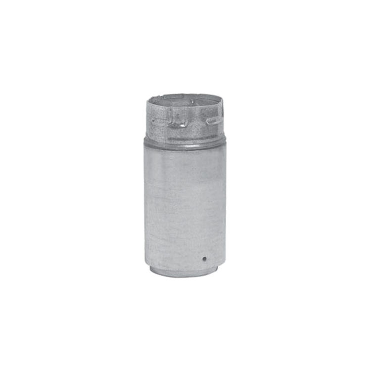 Metal-Fab 3P4A Metal Fab 3P4A 3 Biomass Chimney L Vent Galvanized Adapter (Male Lock)