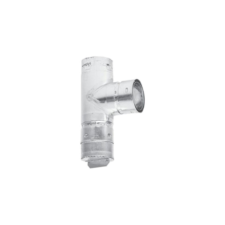 Metal-Fab 3PVCT Metal Fab 3PVCT 3 Biomass Chimney L Vent Galvanized Vertical Cleanout Tee W/Cap