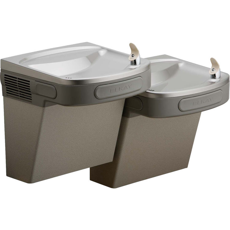 View 2 of Elkay EZSTL8LC Elkay EZSTL8LC Versatile Cooler - Bi-Level, Non-Filtered, 8 GPH, Wall Mount, ADA, Light Gray Granite