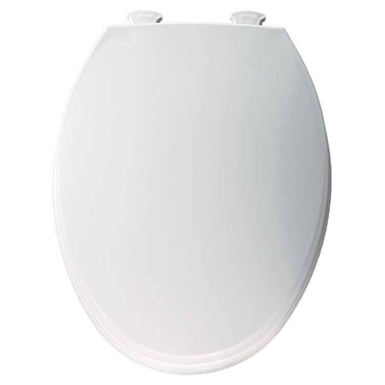 Peachy Bemis Church 760T000 White Closed Front Round Plastic Toilet Seat With Cover Theyellowbook Wood Chair Design Ideas Theyellowbookinfo