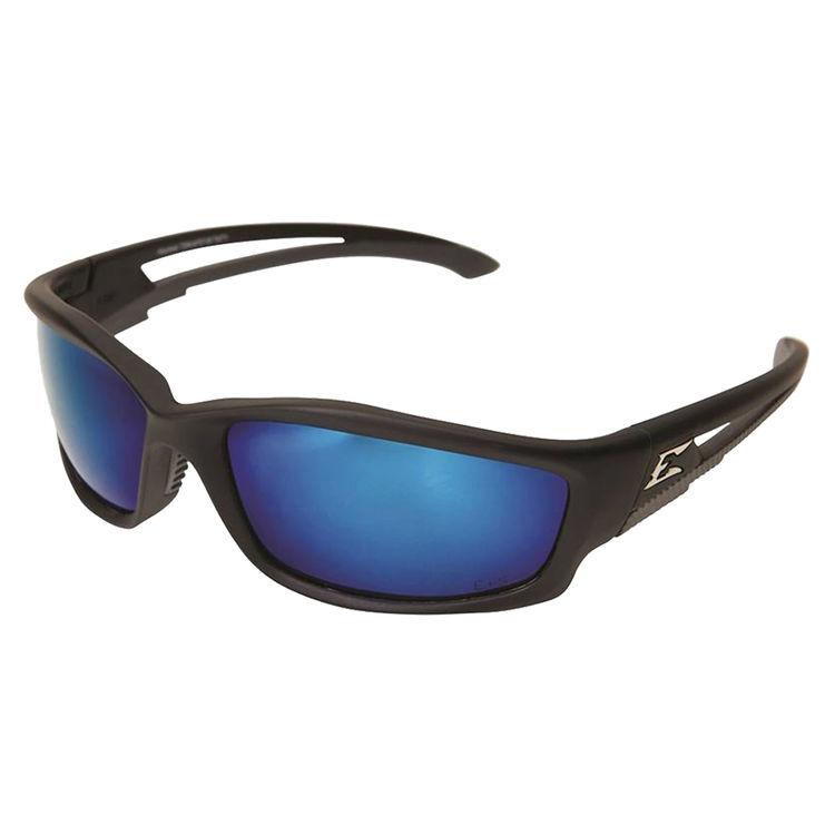 Edge TSKAP218 EDGE TSKAP218 KAZBEK SAFETY SUNGLASSES - BLACK FRAME BLUE MIRROR LENS POLARIZED