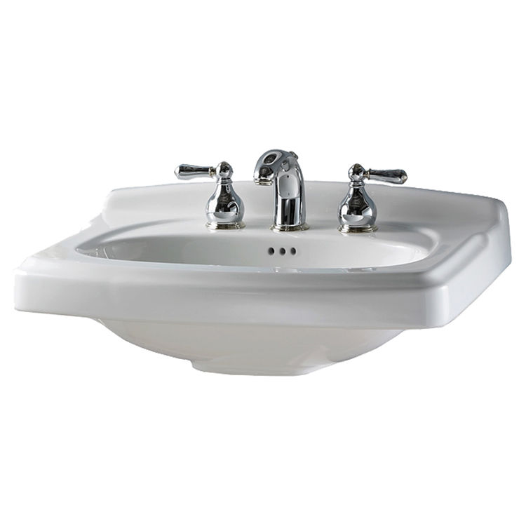 American Standard 0555.001.020 As 0555001020 Portsmouth 24inx20 Pedestal Lavatory Only White Center Hole