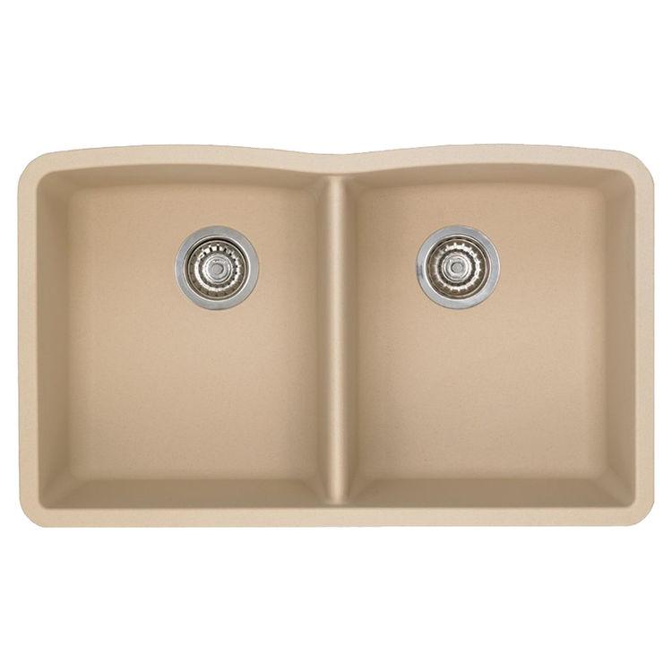 Blanco 441223 Blanco 441223 Diamond Biscotti Equal Double Bowl Undermount Sink