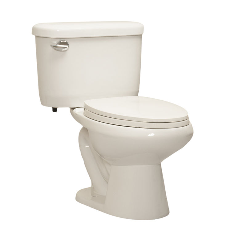 Western Pottery 432PF Western Pottery 432PF-W White Wrangler Power Flush Elongated Bowl Toilet