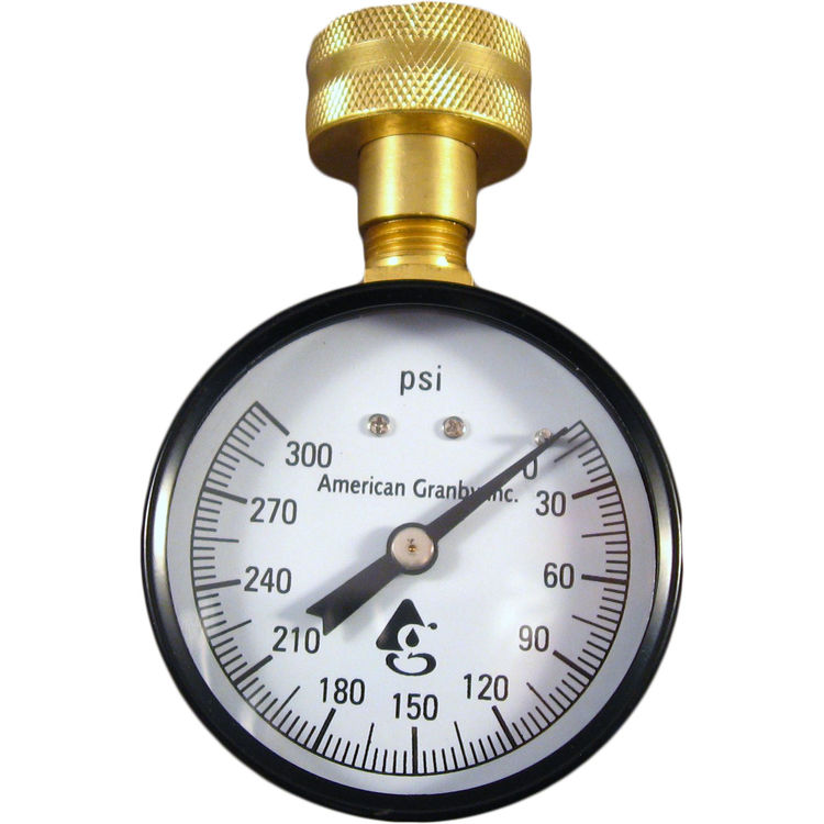 American Granby  300# Water Test Gauge with Hose Thread
