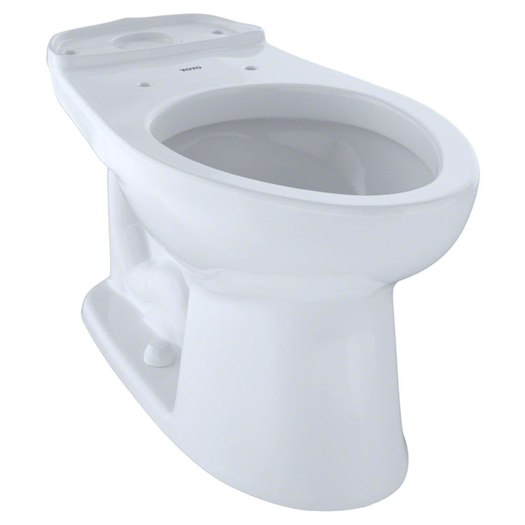 Toto C744E#01 TOTO  Eco Drake and Drake Elongated Toilet Bowl, Cotton White - C744E#01