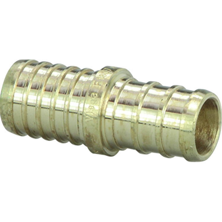 Commodity  1/2 Inch Pex by 1/2 Inch Poly Adapter Coupling, Brass Construction