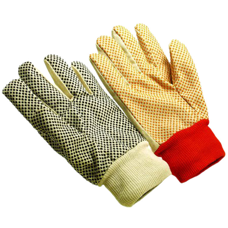 Seattle Glove C8608PDW Women's Black Dots Canvas Glove 8 oz
