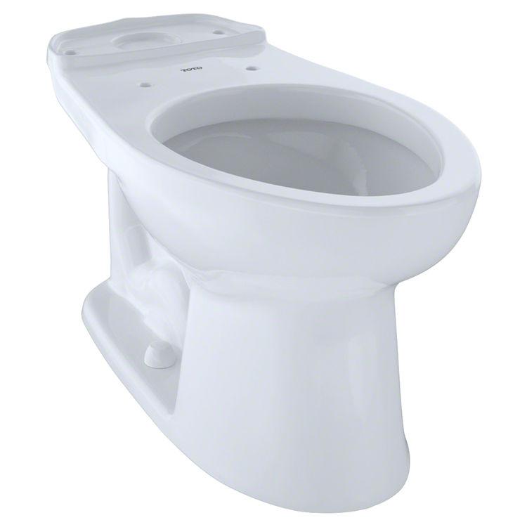 Toto C744EL#01 Toto Eco Drake Height Elongated Toilet Bowl, ADA, Cotton White - C744EL#01