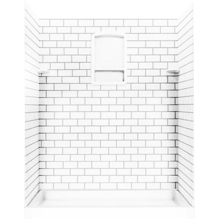 Swanstone Stmk72 3662 010 Subway Tile Shower Wall Kit