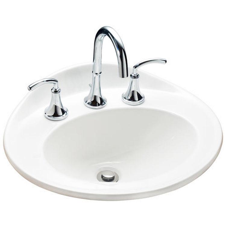 Mansfield 259-1-WHT Mansfield Essence White 1 Hole Drop In Lavatory Model 259-1-WHT