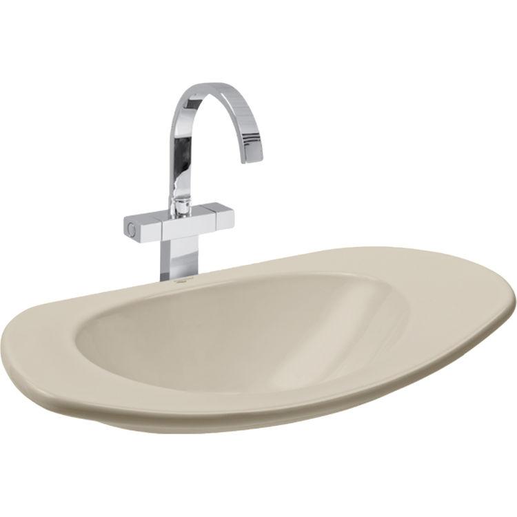 Mansfield 826 Bone Reo 26 Quot X16 Quot Demi Lavatory Vessel Sink Bone