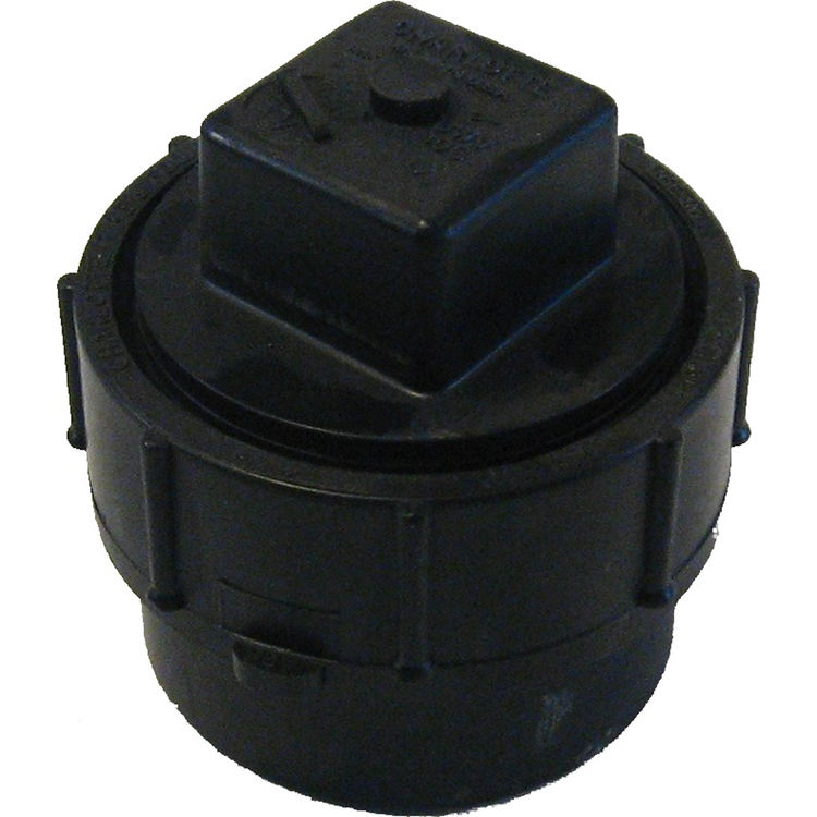 Commodity  2 Inch ABS Cleanout Adapter, ABS Construction
