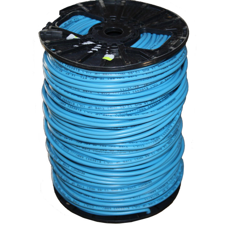 12 Gauge 1 Strand Tracer Wire Blue 500' Roll on