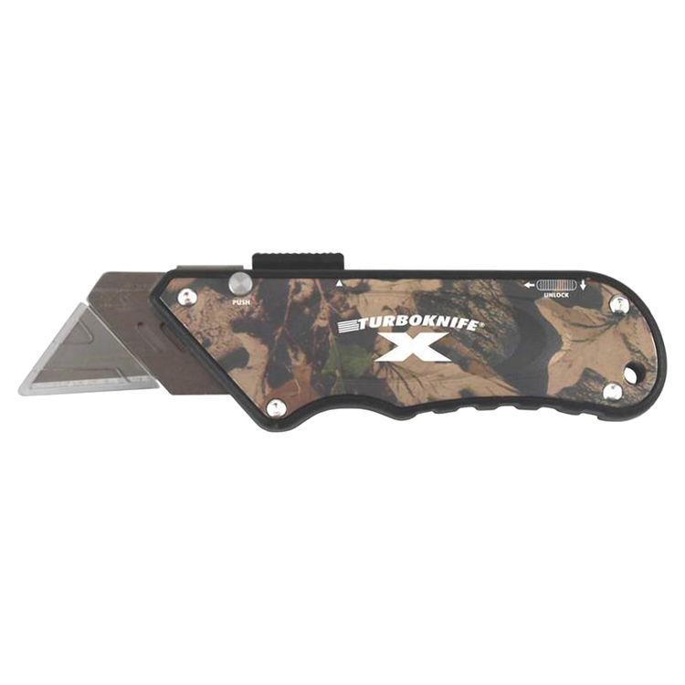 View 2 of Olympia 33-130 TurboknifeX 33-130 Utility Knife, Camouflage Ergonomic