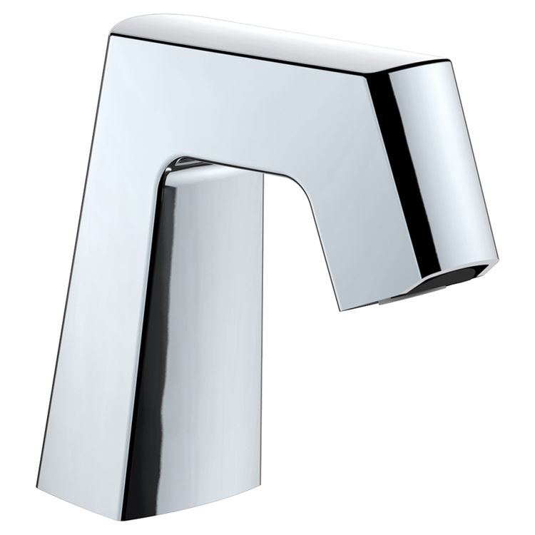 View 2 of Chicago Faucet EQ-B11B-KJKABCP Chicago Faucets EQ-B11B-KJKABCP EQ Chrome 243.146.AB.1 1.0 GPM (3.8 L/min) Aerated Cache Outlet EQ Angular Electronic Integral Spout Assembly