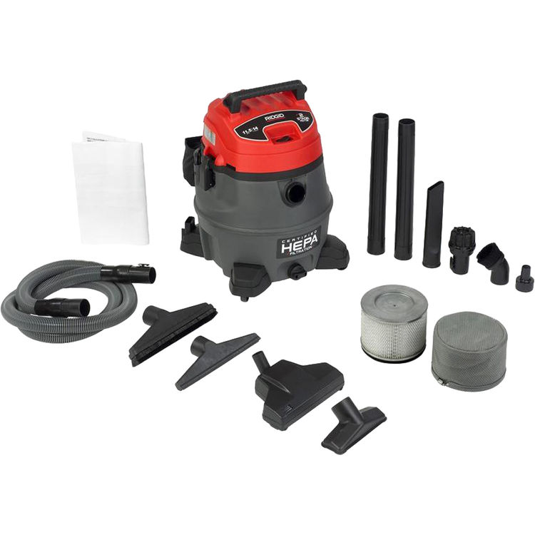 View 2 of Ridgid 50358 Ridgid RV2400A Industrial Fourteen Gallon Two Stage Wet/Dry Vacuum With Cart