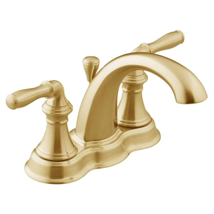 Kohler K 393 N4 Pb Polished Brass Devonshire Centerset