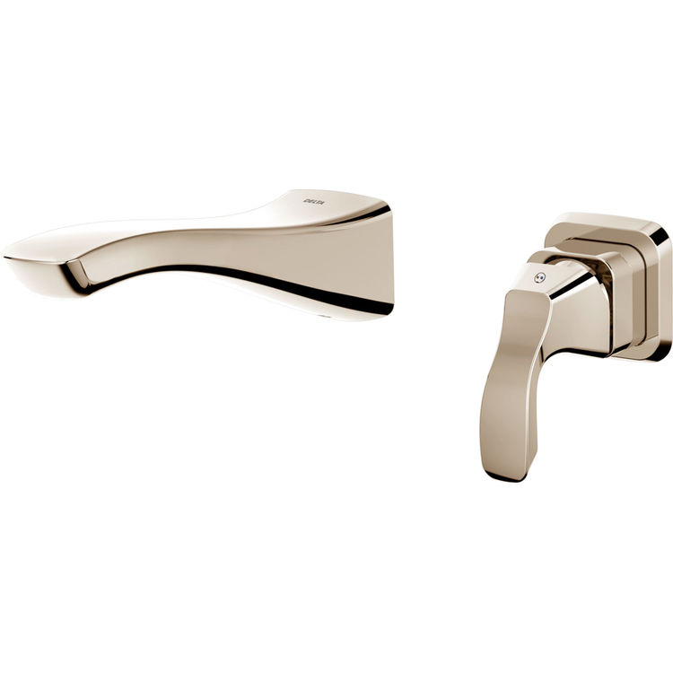 Delta T552LF-PNWL Delta T552LF-PNWL Polished Nickel Single Handle Wall Mount Lavatory Faucet