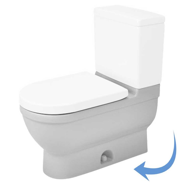 View 2 of Duravit 2125010000 Duravit 2125010000 Starck 3  Floor Mounted Elongated US-Version Toilet - White