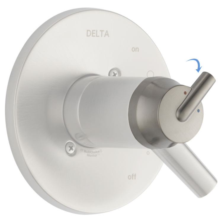 View 2 of Delta RP79574SS Delta RP79574SS TRINSIC Temperature Knob and Cover 17T Series - Brilliance Stainless