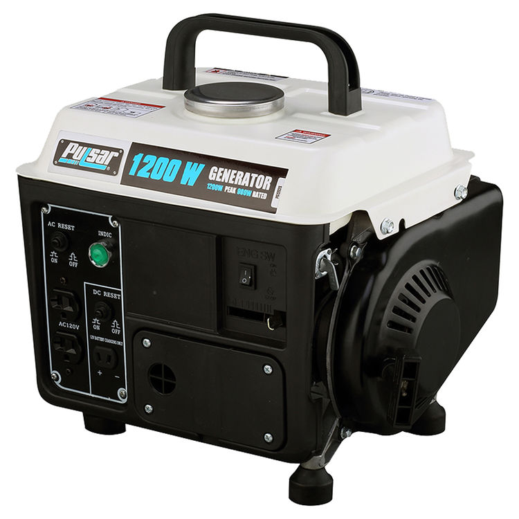 Pulsar PG1202S Pulsar PG1202S Portable Generator, 120 V, 8.3 A, 900/1200 W, 2-Stroke Air-Cooled, 1-Cylinder